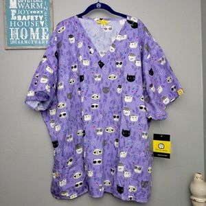 Wonder Wink CATS Scrub Top New with Tags 5X Plus